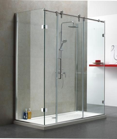 Cabin tắm kính sát tường