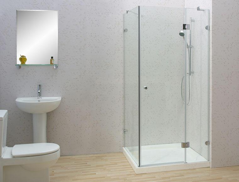 Cabin tắm kính màu sáng đẹp long lanh